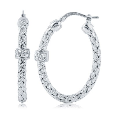 hoop earrings cz