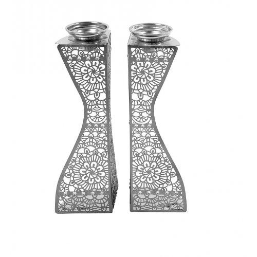 Dorit-Judaica-Laser-Cut-Floral-Design-Candlesticks--Swarovski-Stones+85-17540-500x500