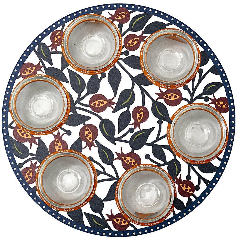 Passover Plate Pomegranates