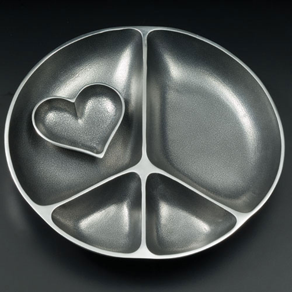 Serving Peace with Heart Dish with Heart Spoon