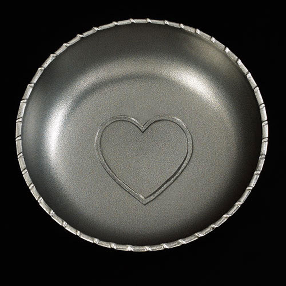 Silver Heart Salad Bowl